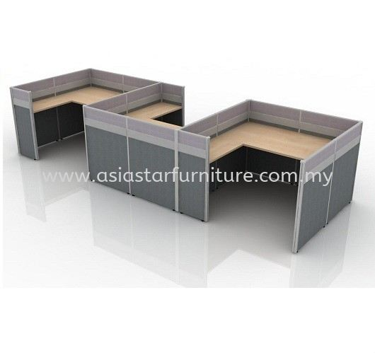 CLUSTER OF 3 OFFICE PARTITION WORKSTATION 3 - Partition Workstation Batu Caves | Partition Workstation Kepong | Partition Workstation Serdang | Partition Workstation Balakong