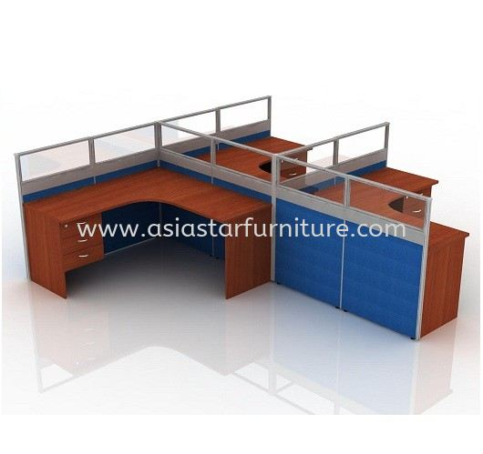 CLUSTER OF 3 OFFICE PARTITION WORKSTATION 11 - Partition Workstation Damansara Kim | Partition Workstation Bandar Puchong Jaya | Partition Workstation Taipan USJ | Partition Workstation Sunway Damansara