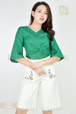 87938 LINEN BLOUSE【BUY 2 FREE 3】