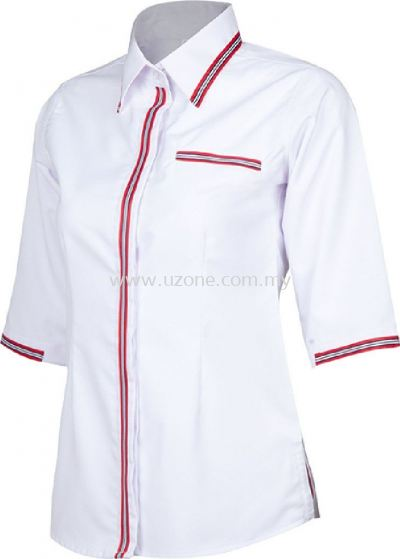 FV3102(Ready Stock)  . White / Red