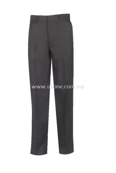 TPS 2 : LONG TROUSER FLAT FRONT (Custom made) . BLACK