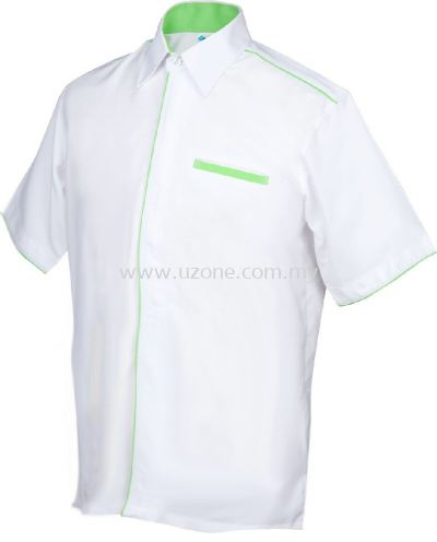 OF1002 (Ready Stock) White / Apple Green