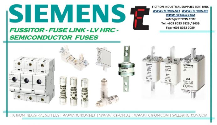 3NA3007 3NA3007 3NA3007 FUS NH GL-GG GR0 500VCA 20A SIEMENS Fuse Supply By Fictron Industrial Supplies SDN BHD.