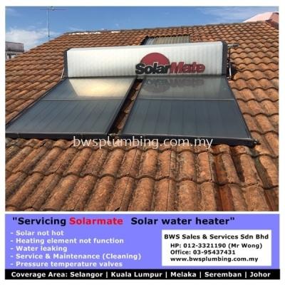 Solarmate solar water heater support team at Sungai Buloh