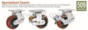 509 Series Spring Loaded Castor Castor Wheel