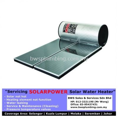 Solarpower - Repair or Install Solar Water Heater | Replace Heating Element and Service maintenance Old Solar at Bukit Tinggi