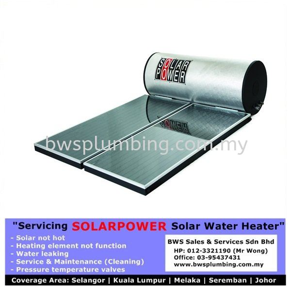 Solarpower - Repair or Install Solar Water Heater | Replace Heating Element and Service maintenance Old Solar at Klang Solarpower Solar Water Heater Repair & Service BWS Customer Service Centre