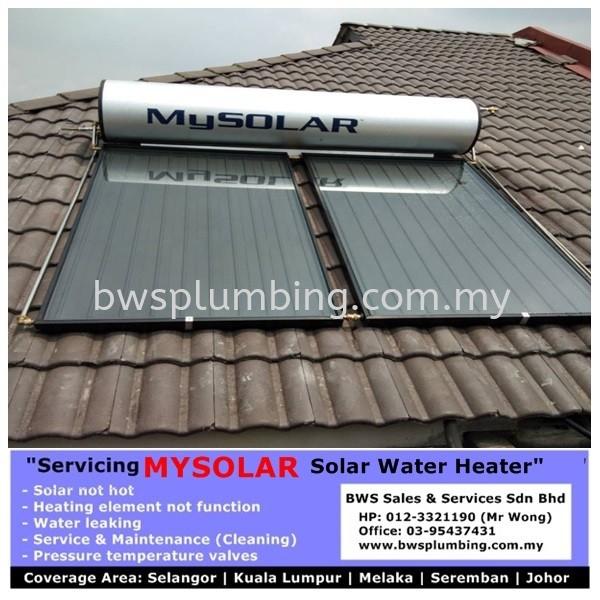 Installation of Mysolar Solar Water Heater Malaysia Mysolar Solar Water Heater Repair & Service BWS Customer Service Centre