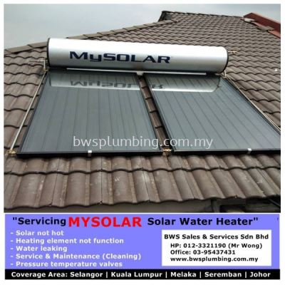 Mysolar Solar Water Heater Malaysia Servicing