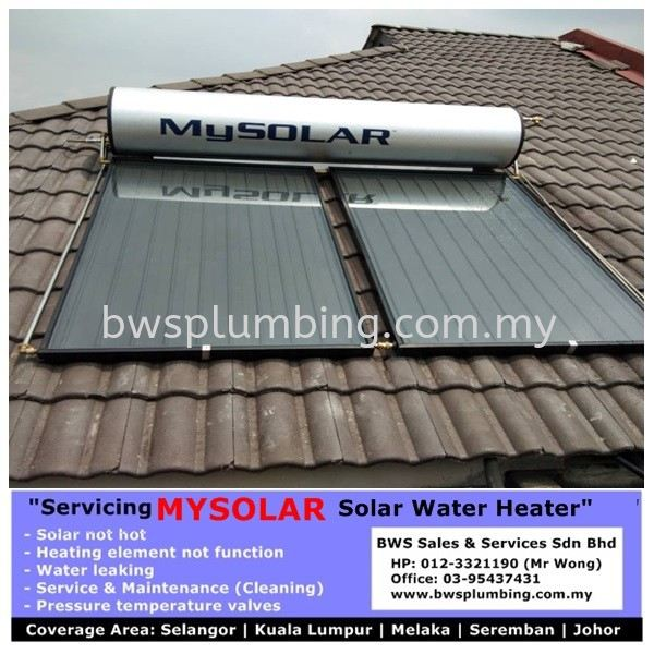 Dealer of Mysolar Solar Water Heater Malaysia Mysolar Solar Water Heater Repair & Service BWS Customer Service Centre