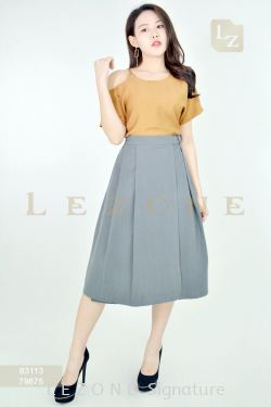 79675 MIDI A-LINE SKIRT【2 FOR RM99】