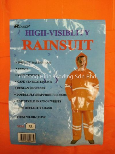 OR-1133SR HIGH-VISIBLITY RAINSUIT