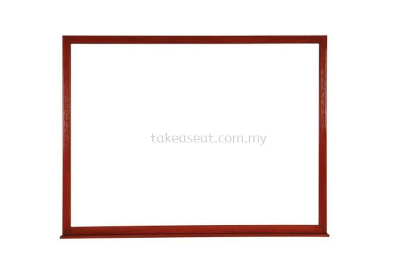 Wood Frame WhiteBoard Brown