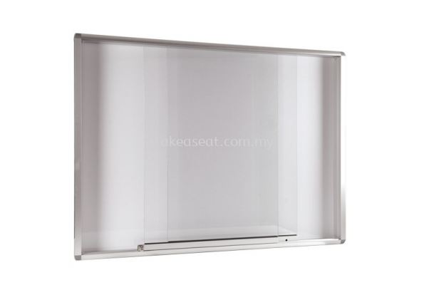 Aluminium Frame Whiteboard with Sliding Glass