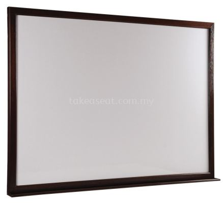 Wood Frame Whiteboard Walnut