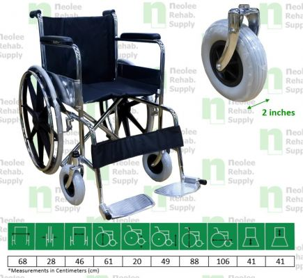 NL807B-46 Euro Spec Standard Wheelchair w. MAG-Wheels