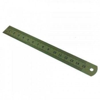 "Stainless Steel Ruler 6"" inch / 15 cm"