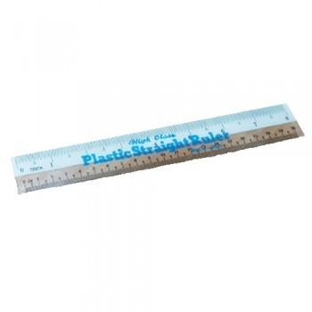 "Plastic Straight Ruler 8"" inch / 20 cm"