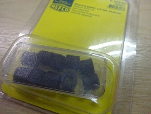 REFCO CHARGING LINE GASKET P-509/10 FOR ALL INCL. R410A (10 PCS/PACK) P/N:9880872