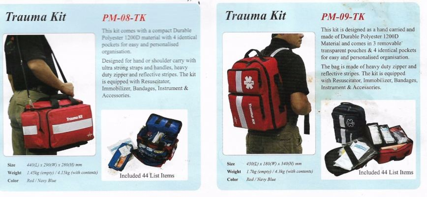 TRAUMA KIT 44 ITEM PM-08-TK