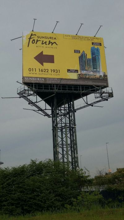 Unipole billboard at setia alam