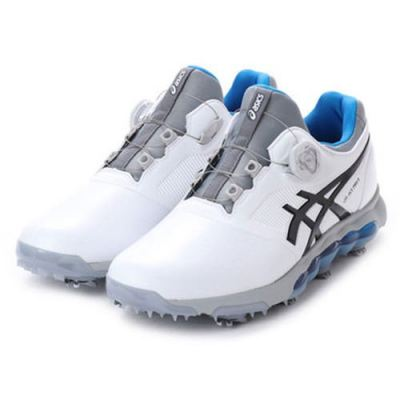 Asics Japan Golf Shoes GEL-ACE PRO X Boa Soft Spike TGN922 White Gray Blue