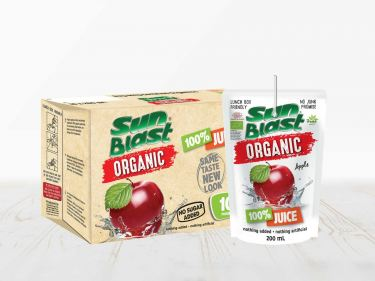 Sun Blast Organic 100% Apple Juice. NO SUGAR ADDED