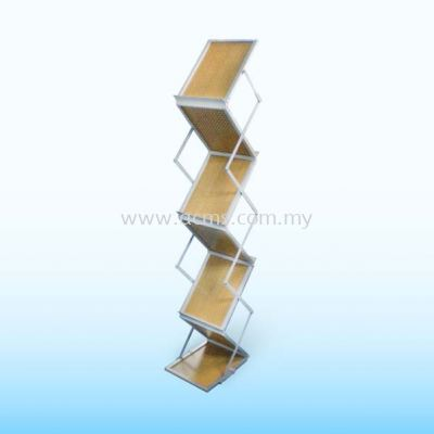 Wood Plate Brochure Stand-SBW