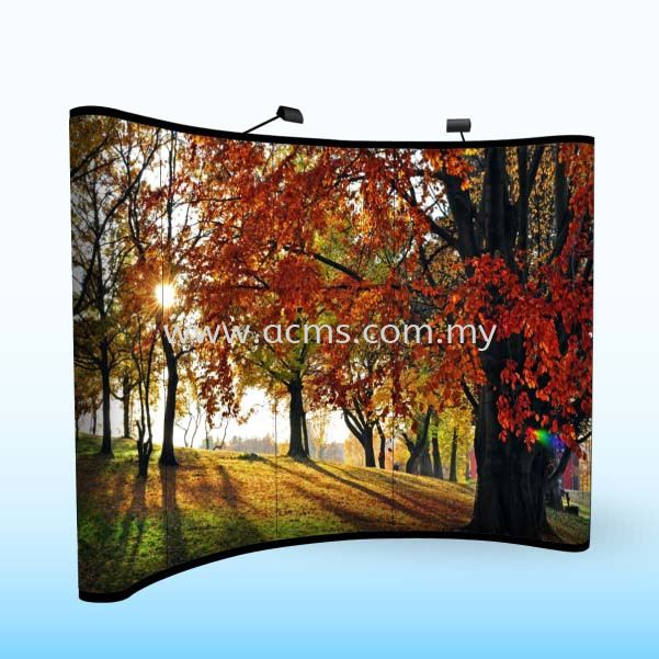 Pop Up Backdrop Curve-PUC POP UP CURVE(STANDARD) POP UP SERIES DISPLAY SYSTEM Selangor, Malaysia, Kuala Lumpur (KL), Sungai Buloh Supplier, Suppliers, Supply, Supplies | AC Marketing Solution Sdn Bhd