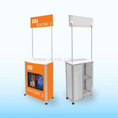 Promotion Counter or Sampling Booth Series-Aluminium Sampling Slim Booth-TSB2
