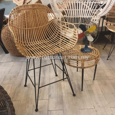 RATTAN + METAL COUNTER STOOL HAMI