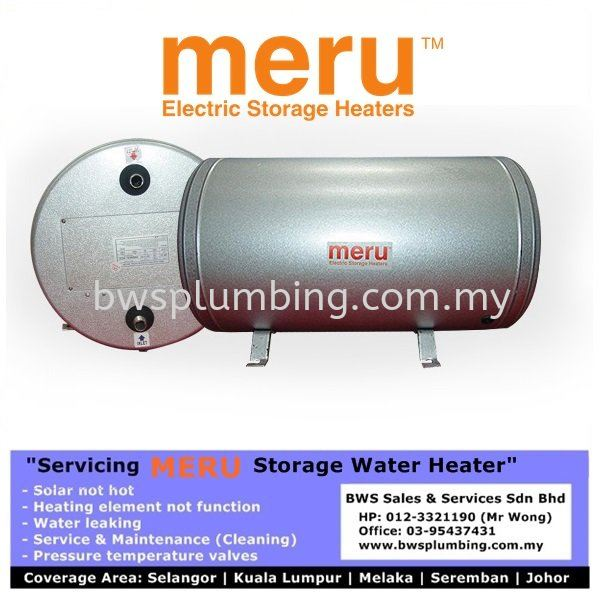 MERU Kuala Lumpur- Service & Repair Storage Water Heater Meru Water Heater Repair & Service BWS Customer Service Centre