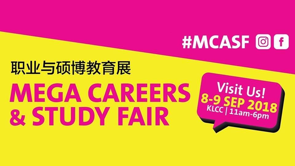 Mega Careers & Study Fair September 2018