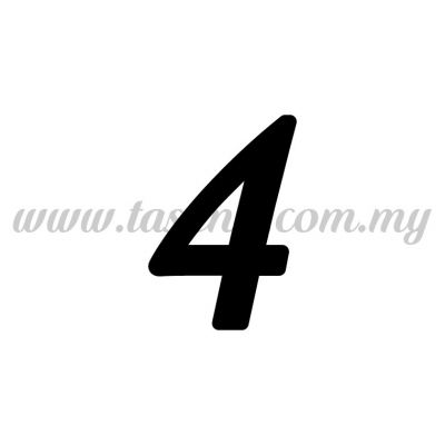 "Sticker Number ""4"" - Regular (SK-0NUM5-4)"