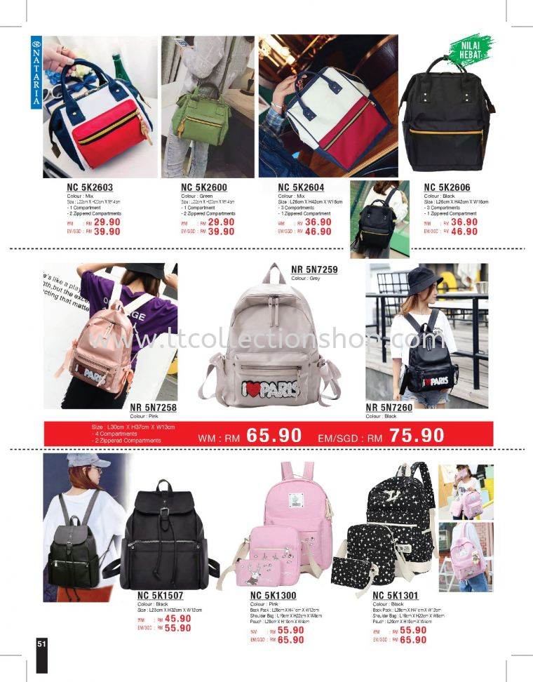 NATARIA VOL.114 - HANDBAG COLLECTION NATARIA VOL.114 - HANDBAG COLLECTION NATARIA