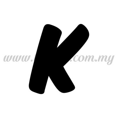 Sticker Alphabet K - Bold (SK-AALP6-K)