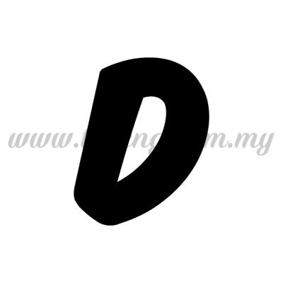Sticker Alphabet D - Bold (SK-AALP6-D)