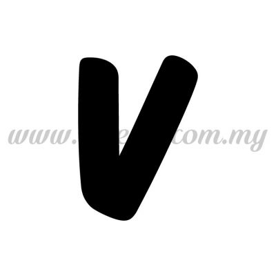 Sticker Alphabet V - Bold (SK-AALP6-V)