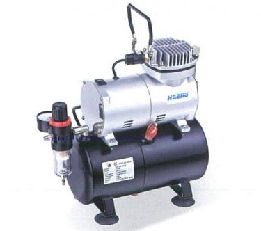 HAO SHENG AIRBRUSH COMPRESSOR WITH TANK, AF186