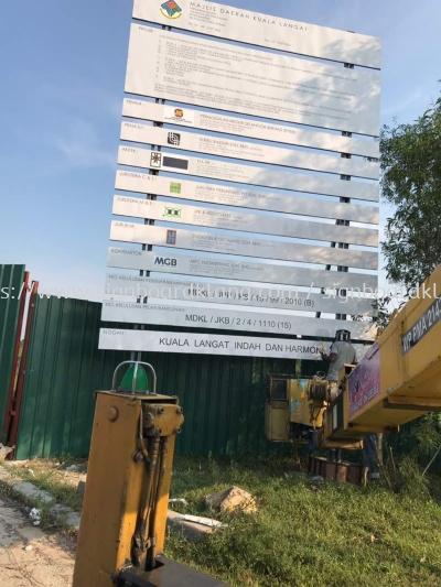 Construction project Signboard in Sepang Kuala Lumpur