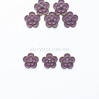 Iron On Metal, Code 18-06#, K5 Violet, 50pcs/pack