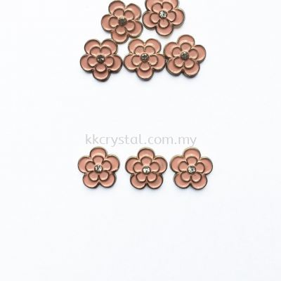 Iron On Metal, Code 18-06#, K3 Peach, 50pcs/pack