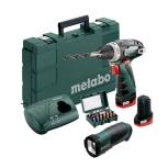 METABO 850 WATT 13MM IMPACT DRILL, PowerMaxx BS Basic Set Cordless Drill / Screwdriver