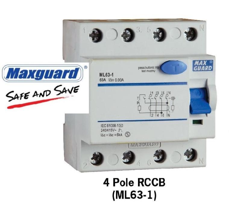 Maxguard-4poleRCCD Maxguard Breaker