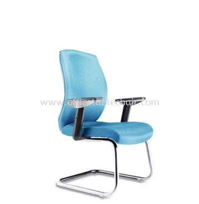HALEY EXECUTIVE VISITOR CHAIR WITH CHROME CANTILEVER BASE