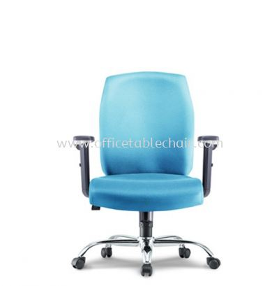 HALEY EXECUTIVE LOW BACK CHAIR WITH CHROME METAL BASE