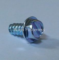 Hex Flange Screw with Slotted Driver