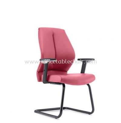 SENSE 1 EXECUTIVE VISITOR CHAIR WITH EPOXY BLACK CANTILEVER BASE VA