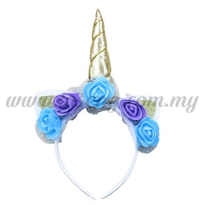Hairband Unicorn - Gold & Blue (DU-HB20-4GB)