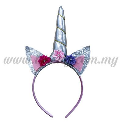 Hairband Unicorn - Silver (DU-HB20-5SI)